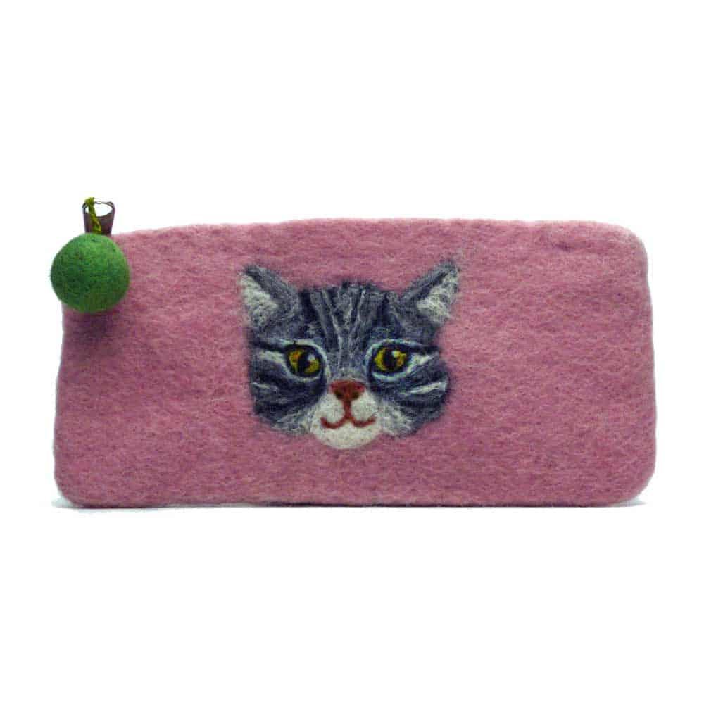 Felt Animal Cat purse