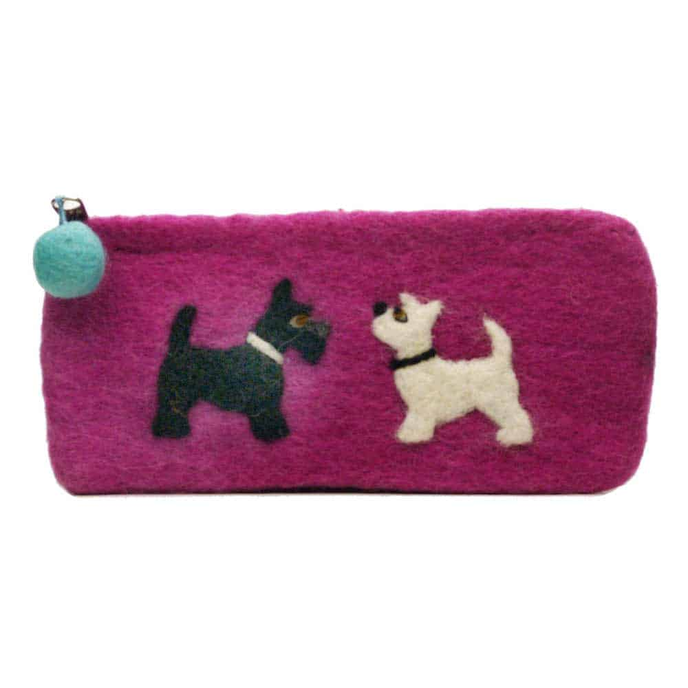 Felt Animal Scottish terrier dogs purse