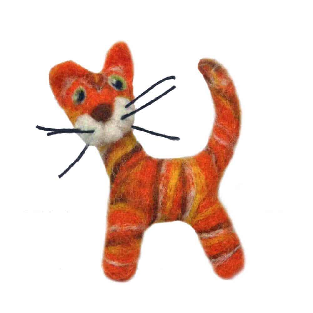 Needle Felt Animal Ginger Cat