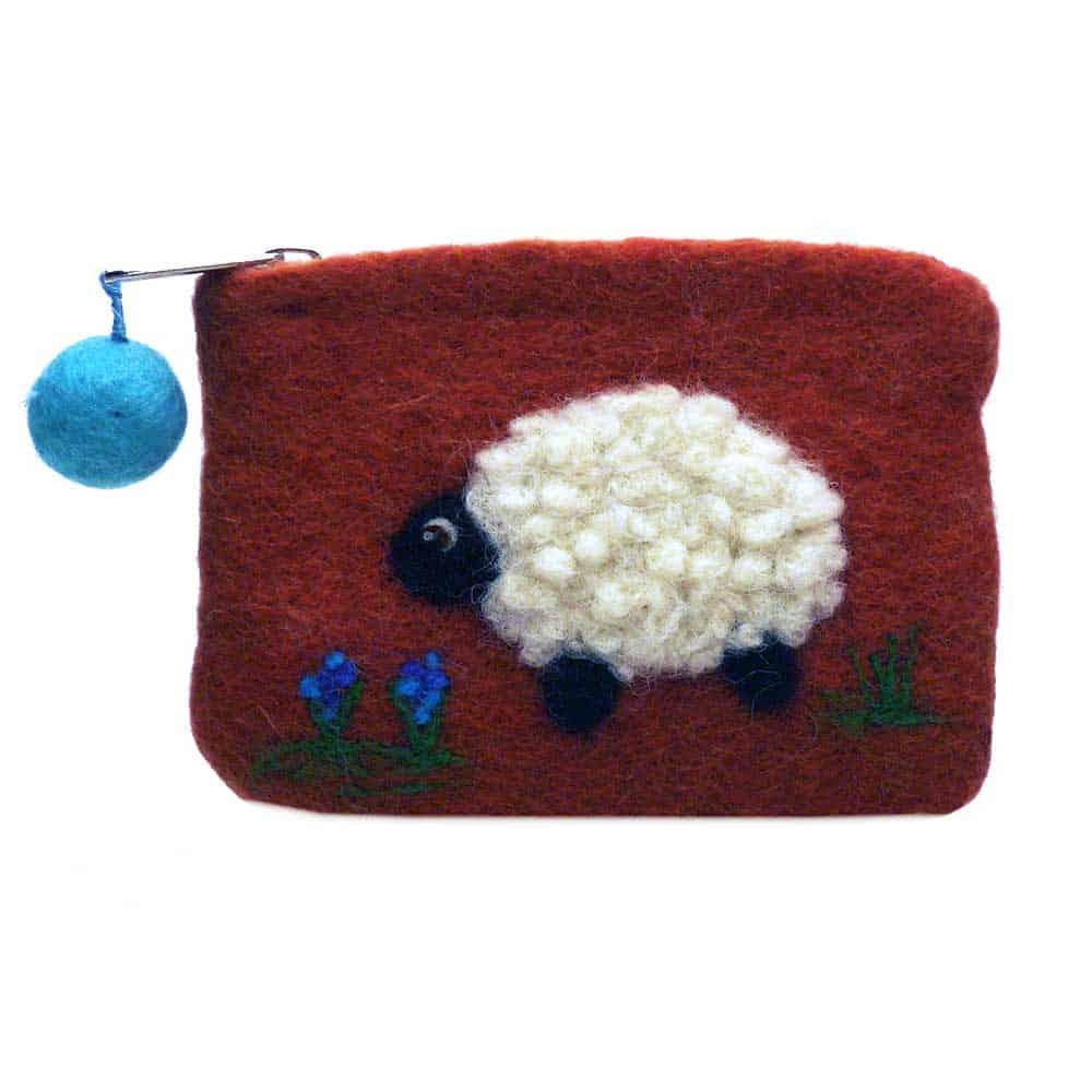Felt Animal Sheep purse