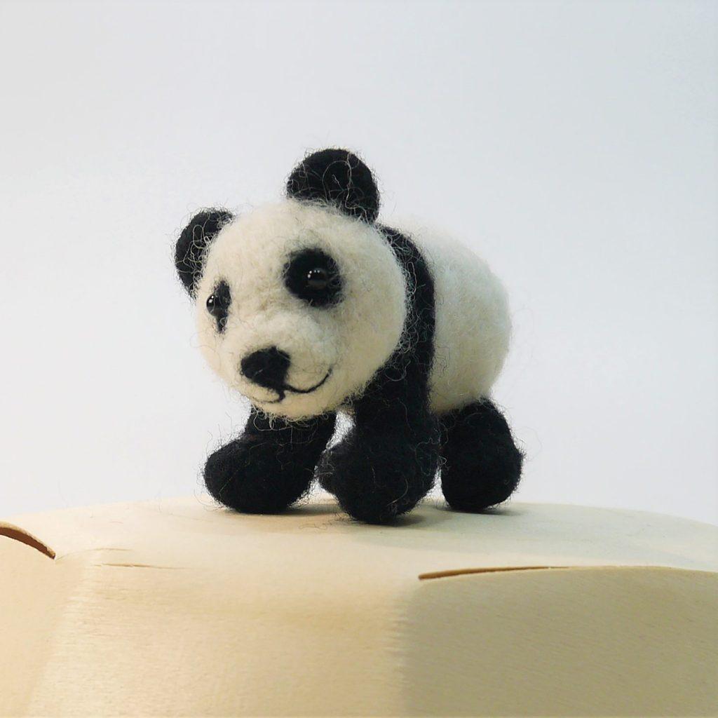 needle felted panda